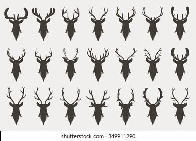 deer head silhouette images stock photos vectors shutterstock
