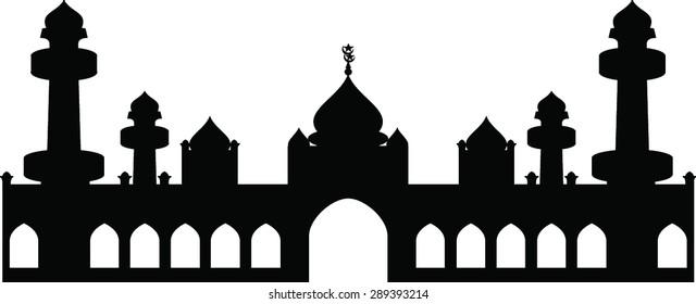 Black Islamic Mosque White Images, Stock Photos & Vectors