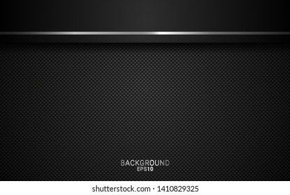 Black and silver abstract geometric background. geometric background design with perforated metal texture. Modern shape concept. Vector 3d. Easy to edit and customize. EPS10.