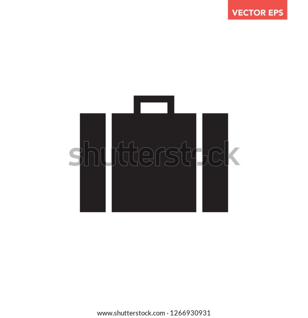 Black Single Office Suitcase Working Luggage Stock Vector (Royalty