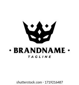 Black skull King, Skull and Crown Logo Template