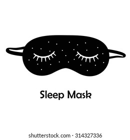 Black sleep mask/Sleeping mask on a white background