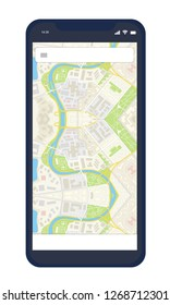 Black Smartphone with google map
