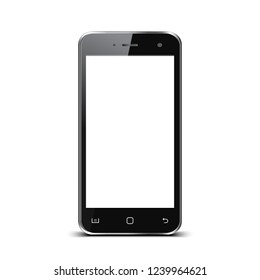 Black smartphone with white touch screen - for stock