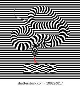 black snake symbol 2013 op art