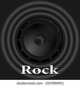 black sound speaker and waves