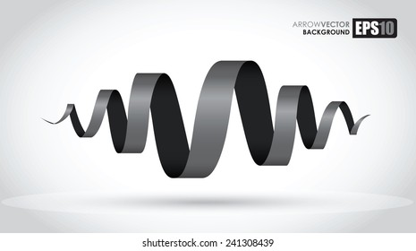 black spiral abstract object