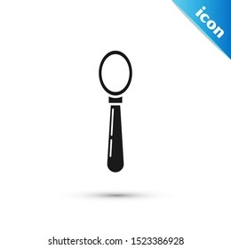 Black Spoon icon isolated on white background. Cooking utensil. Cutlery sign.  Vector Illustration