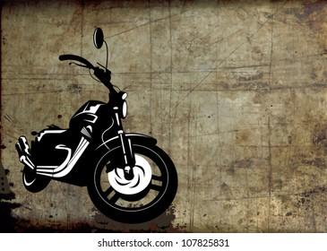black sport bike on a gray background (vector illustration)