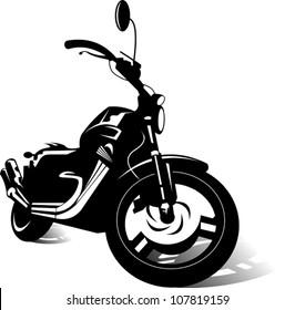 black sports bike (vector illustration)