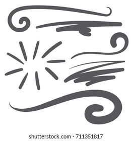 Black squiggle swoosh - text font tail for baseball tshirt design