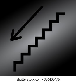 Black stairs - vector icon