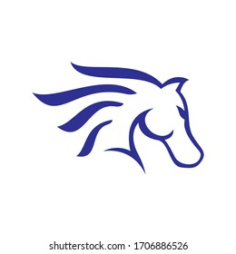 black stallion horse head logo vector symbol the silhoutte of black horse illustration design