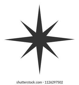Black star icon. Vector illustrtation