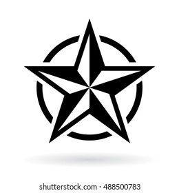 Black star shape vector illustration. Star icon. Star icon eps10. Star icon silhouette.