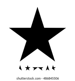 Black star is the twenty-fifth and final studio album by the English musician David Bowie. Cover for CD and digital editions. Black simple vector icons