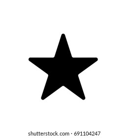 Black star - Vector icon star Icon Vector / star icon / star- Vector icon.