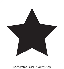 Black Star - vector illustration icon