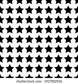 Black Stars. Vector Black Stars. White Background.