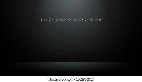 Black studio background