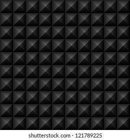 Black Studs Seamless Texture - Vector black studs seamless texture.  File includes global colors and pattern swatch.