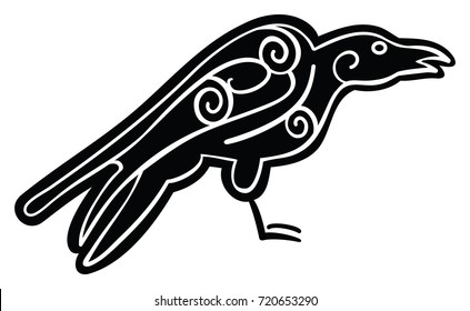 Black Stylized Crow