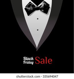 Black suit vector background for black friday sale. Vector eps10.