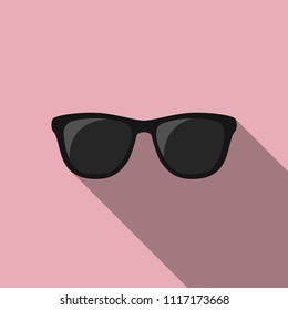 Black Sunglasses flat icon vector. for Summer and Vacation design.