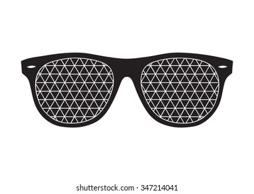 Black sunglasses on white background. Doodle style. Hand drawn eyeglass. It can be used for card, postcard, poster, wallpaper, textile design, fabric design, cover, banner, sticker, t-shirt design.