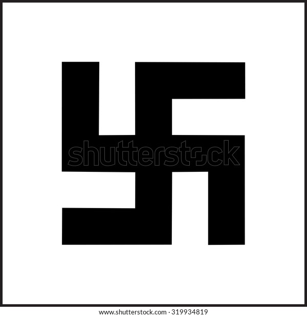 Black Swastika Sign
