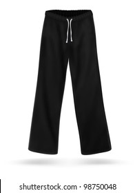 Black sweatpants blank design.