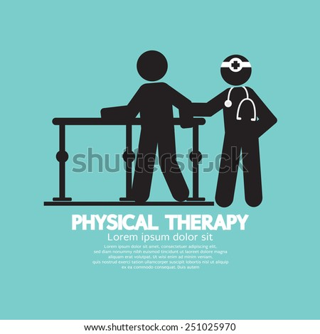 Black Symbol Physical Therapy Vector Illustration Stock Vector