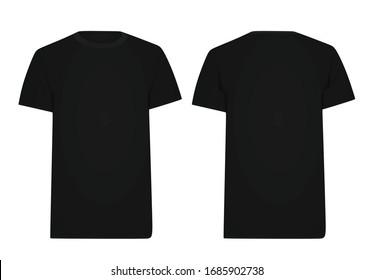 Black  t shirt. vector illustration