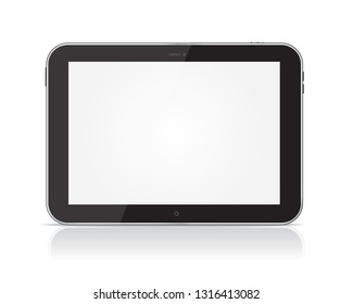 Black Tablet Computer isolated on a white background