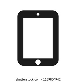 Black tablet icon - stock vector