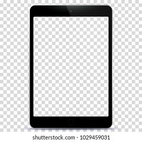 Black Tablet PC With Transparent Screen