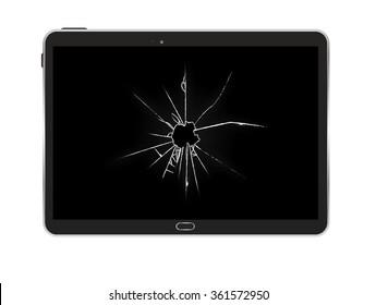 Black Tablet PC Vector Illustration EPS10