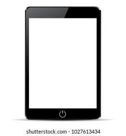 Black tablet with white display - stock vector