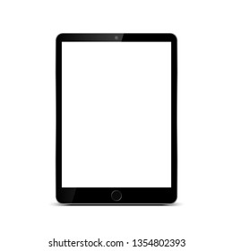 Black tablet with white screen - vector for stock