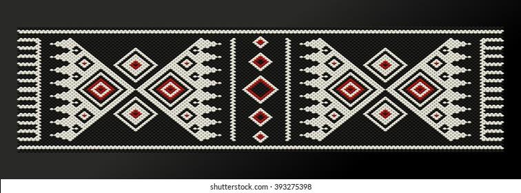 Black Theme Sadu Weaving Belt