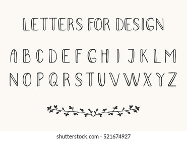 Black Thin Font Isolated On White Background Vector Latin Alphabet Letters For Design
