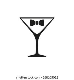 Black tie cocktails, vector illustration