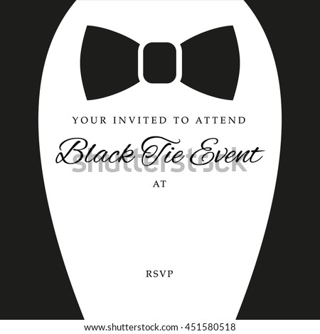 black tie event invite template vector stock vector royalty free