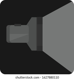 Black torchlight flat icon, apps icon