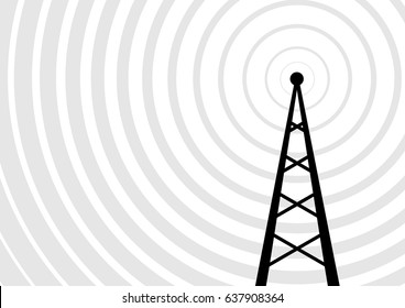 Black transmitter vector icon