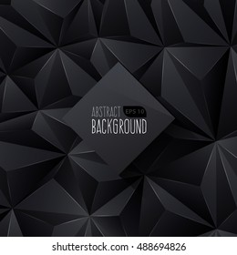 Black Triangle Abstract Background