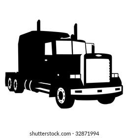 black truck silhouette , vector illustration