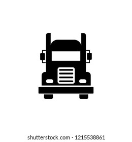 black truck simple icon