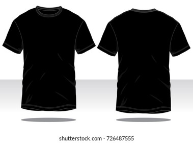Black T-Shirt for Template