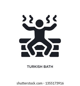 black turkish bath isolated vector icon. simple element illustration from sauna concept vector icons. turkish bath editable logo symbol design on white background. can be use for web and mobile